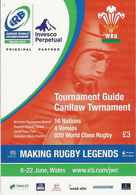 Junior World Championship Wales 2008 Tournament Guide Rugby Programme