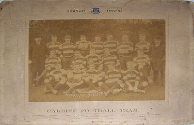 Cardiff RFC 1892-3 Vintage Mounted Original Rugby Team Photograph