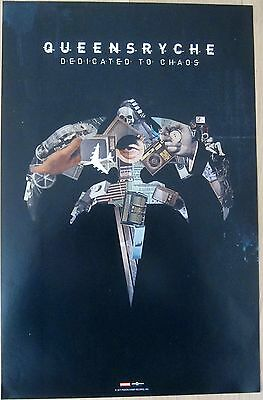 Queensryche - DEDICATED TO CHAOS Double-Sided Promo Poster [2011] - VG++