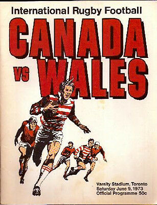 CANADA v WALES 9 Jun 1973 at Toronto RUGBY PROGRAMME