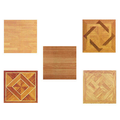 Wood Vinyl Tiles 40 Pieces Self Adhesive Indoor Flooring - Actual 12''x12''