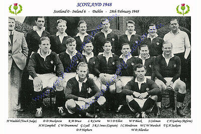 SCOTLAND 1948 (v Ireland, 28th February) RUGBY TEAM PHOTOGRAPH
