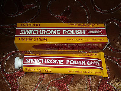 SIMICHROME POLISH 1.76 ounce Bakelite Test, Car Brass