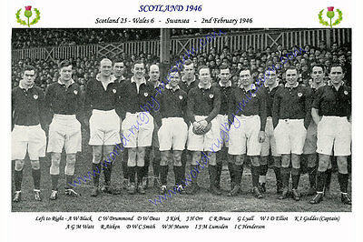 SCOTLAND 1946 (v Wales, 2nd February) RUGBY TEAM PHOTOGRAPH