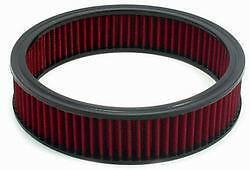 "Air Filter 9"" x 2"" RED Cotton Fiber Washable Reusable FORD CHEVY DODGE 48052 SPE"