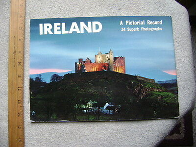 Ireland. A Pictorial Record.  34 pages, NICE color photos. 1970's.