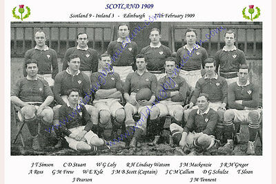 SCOTLAND 1909 (v Ireland, 27th February) RUGBY TEAM PHOTOGRAPH