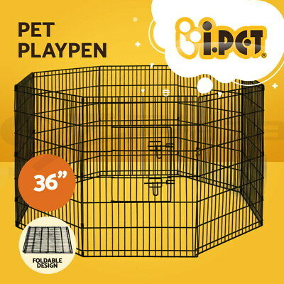 "i.Pet 36"" 8 Panel Pet Dog Playpen Puppy Exercise Cage Enclosure Fence Play Pen"