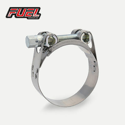 34-37mm W2 Motorbike Stainless Exhaust Clamp / Clip / Bracket / Banjo / Strap