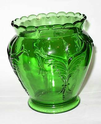EAPG Heisey 1280 Winged Scroll Emerald Celery Vase: hard to find and mint