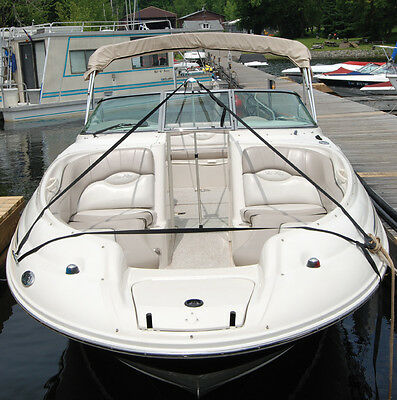 Boat Cover Support Pole System with straps Stops Water Pooling