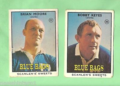 1968 Series 2  Scanlens Rugby League Cards - Newtown Blue Bags
