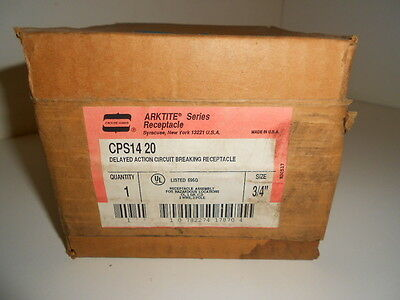 Nos! Crouse-Hinds Delayed Action Circuit Breaking Receptacle Cps1420 3/4""