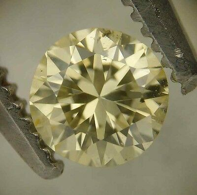 GIA Cert 0.26ct Round Brilliant Diamond NATURAL FANCY LIGHT YELLOW SI-2