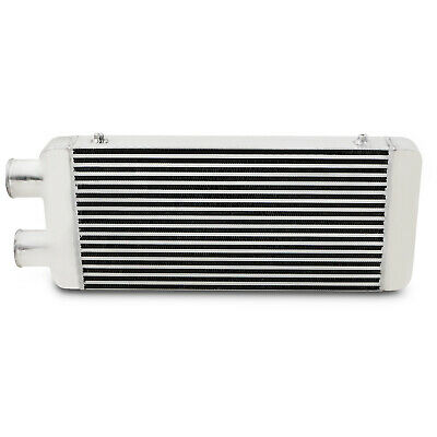 "UNIVERSAL DUAL TWIN PASS 3"" 76mm FRONT MOUNT INTERCOOLER FMIC 600x300x76mm CORE"