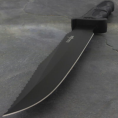 "13"" SURVIVOR TACTICAL BOWIE HUNTING KNIFE w/ GLASS BREAKER Survival Fixed Blade"
