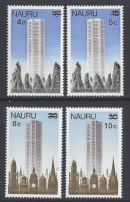 1978 Nauru Provisionals Surcharge Set Of 4 Fine Mint Muh/mnh