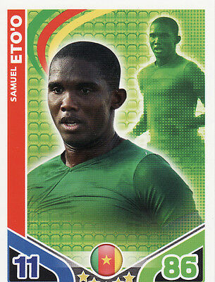 Match Attax World Cup 2010 Cameroon /& Chile Cards Pick From List