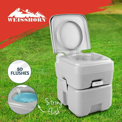 WEISSHORN 20L Outdoor Portable Toilet Camping Potty Caravan Travel Camp Boating