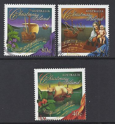 Christmas Island 1996 Christmas Set Of 3 Fine Mint Muh/mnh