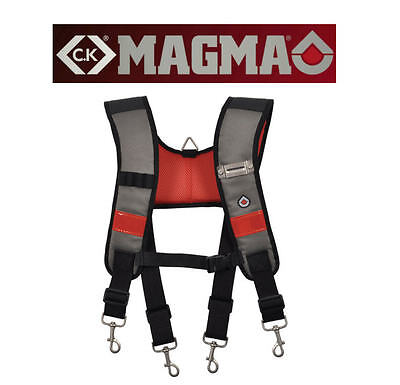 CK Magma Universal Fit Padded Work/Tool Belt Support Braces/Suspenders MA2727