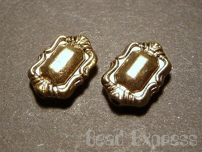 10pc Tibetan Silver Gold Plated Rectangle Metal Spacer Beads 11mm (T045)
