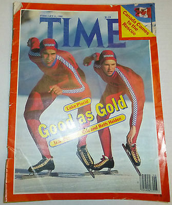 Time Magazine U.S. Dazzlers Eric And Beth Heiden February 1980 082412R