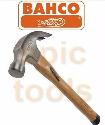 BAHCO 20oz Genuine Hickory Wood/Wooden Comfort Grip Handle Claw Hammer, 427-20