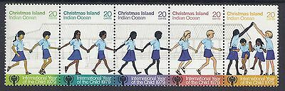 1979 Christmas Island Year Of The Child Fine Mint Strip Of 5 Muh/mnh