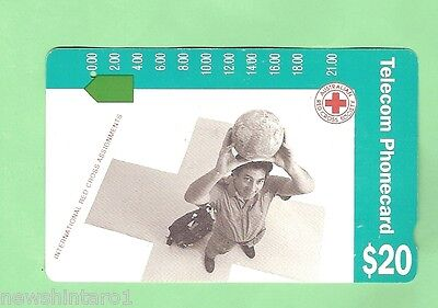 Red Cross 1991 $20 Australian  Used Phonecard -  International Assignments