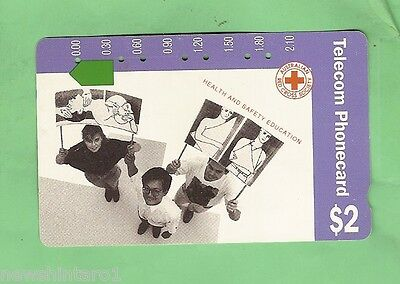 Red Cross 1991 $2 Australian  Used Phonecard -  Health & Safety