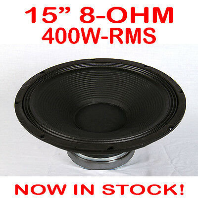 """15"""" 400WRMS 8 Ohms PA DJ Speaker Subwoofer Sub Driver 15 Inch Quality Woofer"""