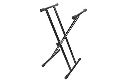 Heavy Duty Keyboard Piano Support Stand Double Mount Quick Adjustable Height