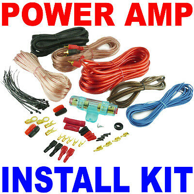 18' 10 Gauge RCA Wire Amp Wiring Fuse Amps Install Kit