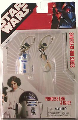 Star Wars Princess Leia & R2-D2 Series 1 Keychains-NIP!-See Store for Promotions