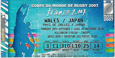WALES v JAPAN RUGBY WORLD CUP 2007 TICKET