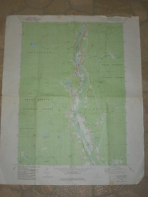 Vintage US Dept of Interior Geological Survey Topographic Map - Woodstock NH