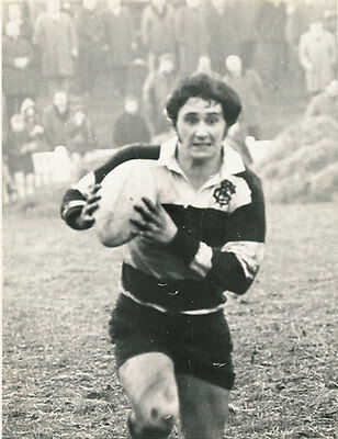 "KEITH HUGHES BARBARIANS, LONDON WELSH & WALES RUGBY PHOTOGRAPH 8"" x 6"""