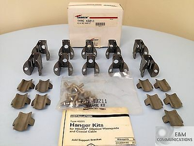 "43211 Andrew Commscope 1/2"" Cable Hanger Kit Box Of 10 With Instructions"