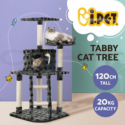 i.Pet Cat Scratching Tree Gym House Scratcher Pole Furniture Toy Medium 120cm BG