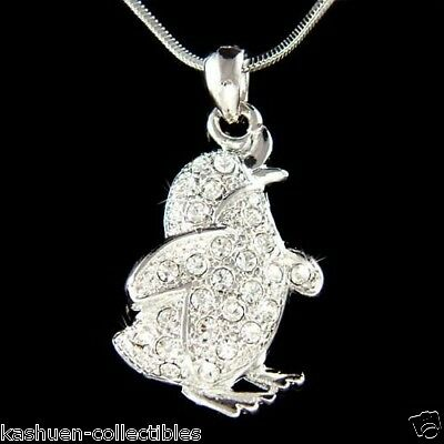 Emperor Penguin made with Swarovski Crystal Happy Feet Necklace Jewelry Cute New