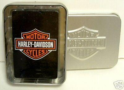 Harley Davidson Playing Cards With Collectible Tin NEW FREE SHIPPING