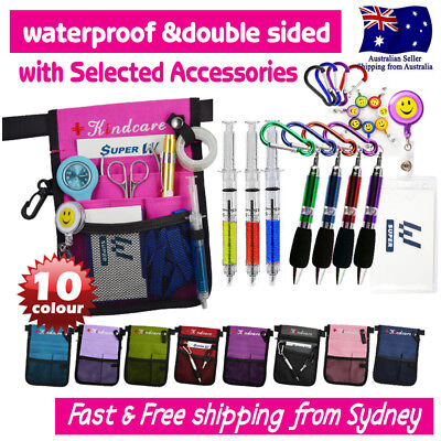 NURSES POUCH WAIST BAG extra pocket QUICK PICK BAG+SYRINGE/KEYRING PEN/ID HOLDER