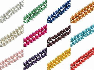 Hot Selling Fashion New Round Glass Pearl White/Black Color Spacer Beads