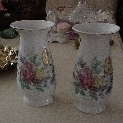 Vintage Porcelain Pair Of Awesome Vases