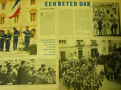 Dutch 1958 magazine clipping 4 pp: Don Salvatore D'Angelo, Maddaloni