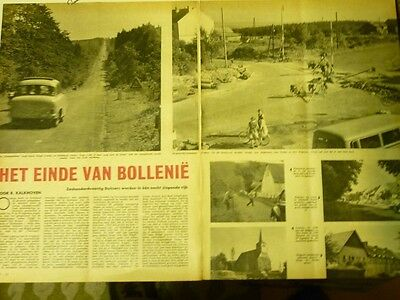 Dutch 1958 magazine clipping 3 pp: Belgian-German boundary shiftings