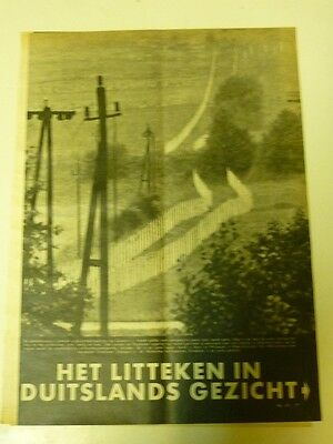 Dutch 1958 magazine clipping 3 pp: No man's land between East & West Germany