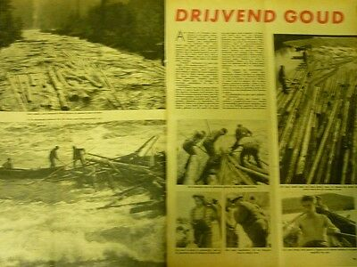 Dutch 1958 magazine clipping 4 pp: Swedish timber rafters