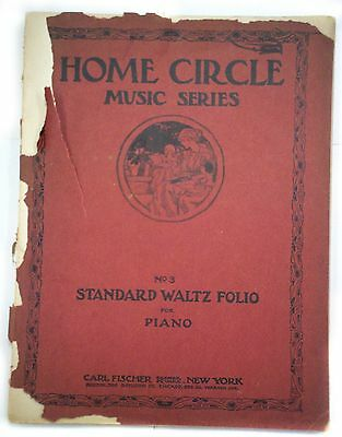 Home Circle Music Series No.3 Standard Waltz Folio For Piano/1912 Carl Fischer